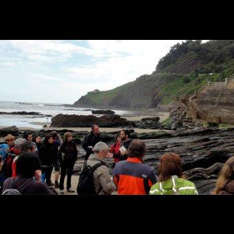 Geoparkea - El flysch negro - Los fondos marinos y el flysch más antiguo del Geoparque (castellano) en Deba