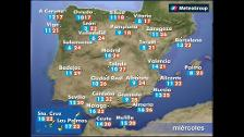 Previsión del tiempo para este miércoles 16 de mayo