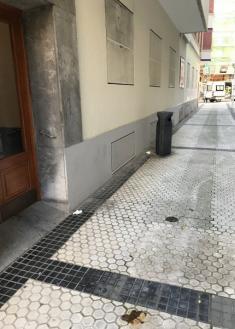 Calle en abandono de los servicios de limpieza
