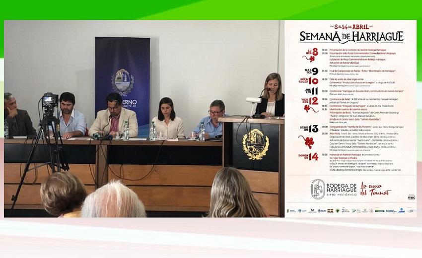 Conferencia de prensa para presentar la 'Semana Harriague'