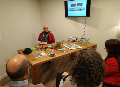 NABO Euskera Coordinator yesterday during his talk at the Hotel Heredad de Unanue in Donostia