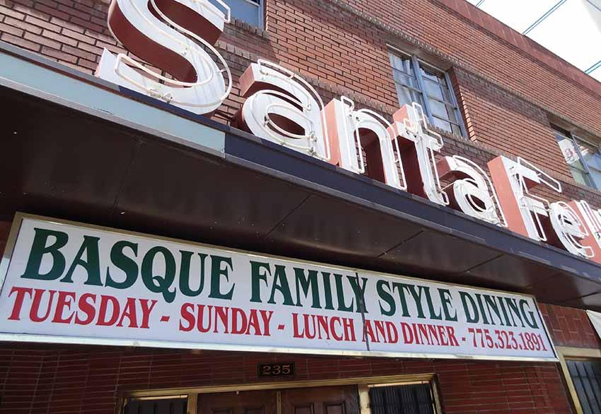 El restaurante vasco Santa Fe Hotel de Reno, nevada, EEUU (foto EuskalKultura.com)
