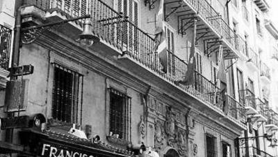 Navarro-Tafalla jauregia (Zapateria kalea, Iruñea), Juan Francisco Navarro indianoak XVIII. mendean eraikiarazia, egun Alderdi Jeltzaleko egoitza
