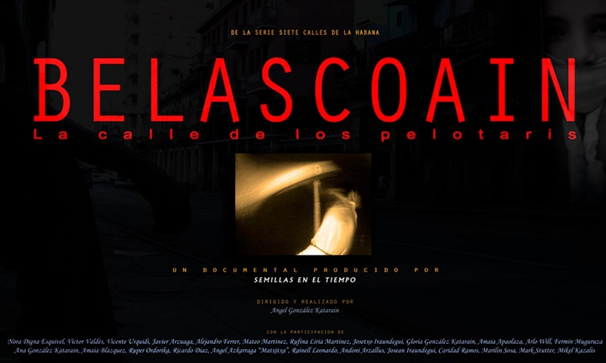 'Belascoain, la calle de los pelotaris' ('Belascoain, pilotarien kalea')