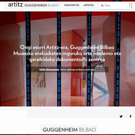 Artitz, Guggenheim Bilbao Museoko Dokumentazio Zentroa