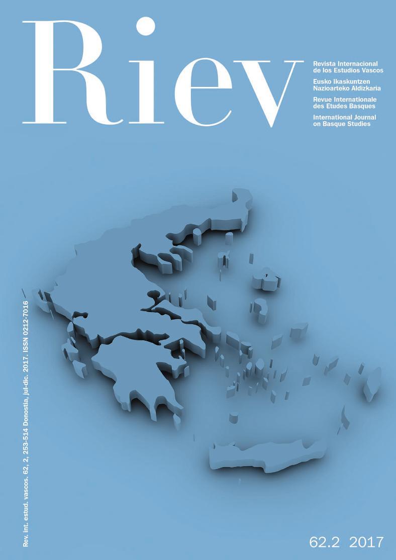 Revista Internacional de los Estudios Vascos. RIEV, 62, 2
