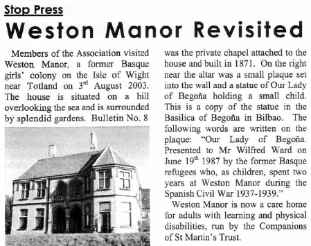Newsletter 1 August 2003, pages 8